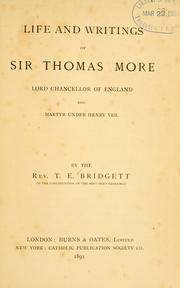 an overview of the work of sir thomas more