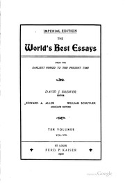 The Best Essays