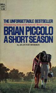cancer in the book brian piccolo a short season by jeannie morris