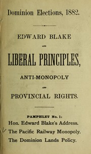 Dominion elections, 1882