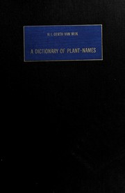 A dictionary of plant-names