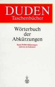 Cover of: Duden Wrterbuch der Abkrzungen by Josef Werlin