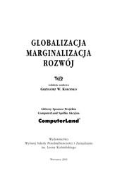 Globalizacja, Marginalizacja, Rozwoj