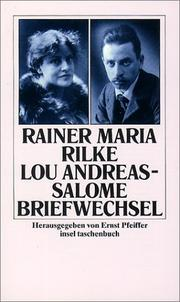 Briefwechsel by Rainer Maria Rilke