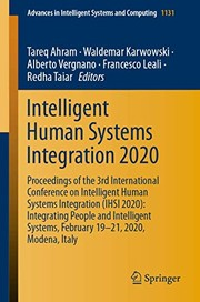 Intelligent Human Systems Integration 2020 : Proceedings of the 3rd International Conference on Intelligent Human Systems Integration