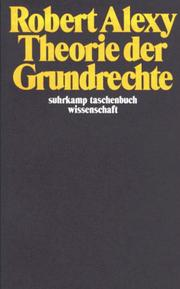 Theorie der Grundrechte by Robert Alexy