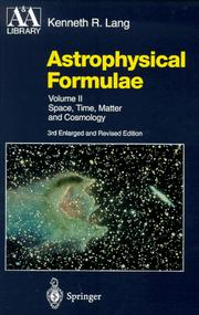 Astrophysical formulae by Kenneth R. Lang