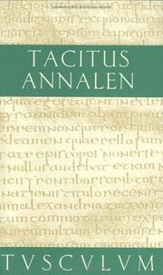 Cover of: Annalen by P. Cornelius Tacitus