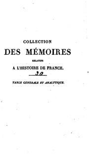 Collection des mémoires relatifs à lhistoire de France: depuis la fondation ...