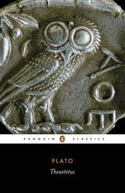 Cover of: Theatetus (Penguin Classics) by Plato