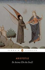 Cover of: De Anima (Penguin Classics) by Aristotle