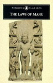 Cover of: The laws of Manu by Manu (Lawgiver)