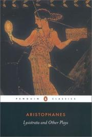 Cover of: Lysistrata and other plays by Aristophanes