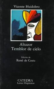 Altazor by Vicente Huidobro
