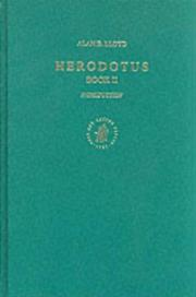 Herodotus, book II by Alan B. Lloyd