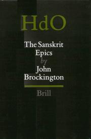 The Sanskrit epics by J. L. Brockington