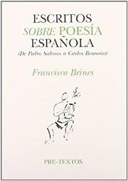 Escritos sobre poesía española