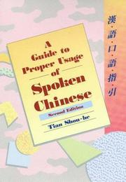 Guide To Proper Usage Spoken Chinese PDF