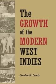 The growth of the modern West Indies PDF