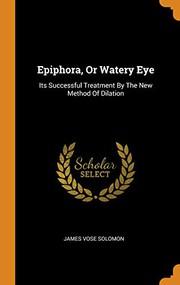 Epiphora, Or Watery Eye