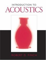 Introduction to Acoustics by Robert D. Finch