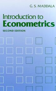 Introduction to econometrics by G. S. Maddala