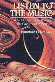 Listen to the Music by Jonathan D. Kramer