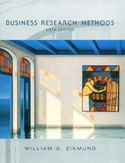 Cover of: Business research methods by William G. Zikmund