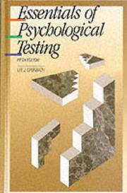 Essentials of psychological testing by Lee J. Cronbach