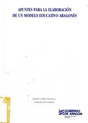 Apuntes para la elaboración de un modelo educativo aragonés