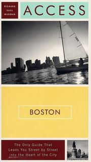 Access Boston by Richard Saul Wurman