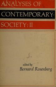 Analyses of contemporary society