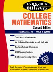 Schaum's Outline of College Mathematics by Philip A. Schmidt