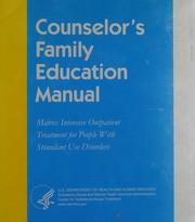 Counselors family education manual