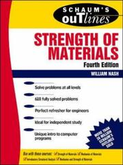 Schaum's outline of theory and problems of strength of materials PDF
