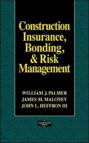 Construction insurance, bonding, and risk management PDF