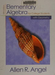 Elementary algebra for college students with geometry