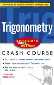 Cover of: Easy Outline of Trigonometry by Ayres, Frank