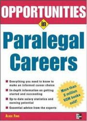 Opportunities in paralegal careers PDF
