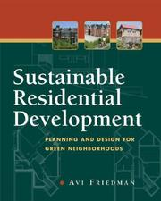 Sustainable residential development by Avi Friedman