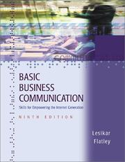 Basic business communication by Raymond Vincent Lesikar