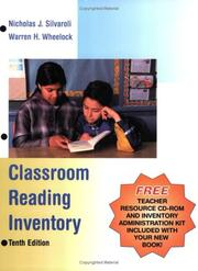 Classroom reading inventory by Nicholas Silvaroli