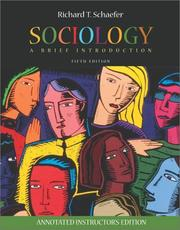 Sociology by Richard T. Schaefer