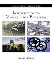 Introduction to Matlab 6 for Engineers with 6.5 Update PDF