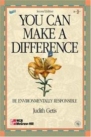 You can make a difference by Judith Getis