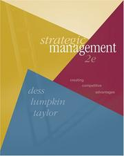Strategic management by Gregory G. Dess