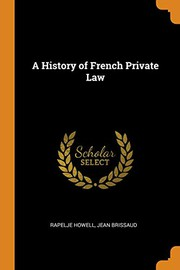 A History of French Private Law
