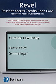 Revel for Criminal Law Today -- Combo Access Card