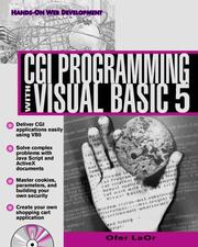 CGI programming with Visual Basic 5 by Ofer LaOr