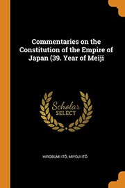 Commentaries on the Constitution of the Empire of Japan (39. Year of Meiji